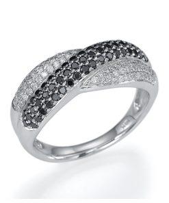 טבעת בנד, טבעת שורה, טבעת צמה, טבעת יהלומים, טבעת יהלום שחור, טבעת יהלומים שחורים, יהלומים שחורים, טבעת מתנה, טבעת חצי נישואין, טבעת נישואין, לויס תכשיטים, טבעת מתנה, טבעות בבורסה