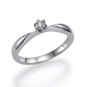 טבעת אירוסין קלאסית, טבעת אירוסין זהב לבן, טבעת אירוסין סוליטר, טבעת הצעת נישואין
