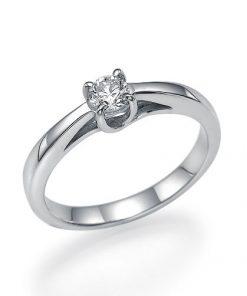 טבעת אירוסין קלאסית, טבעת אירוסין, טבעת סוליטר, טבעת זהב לבן, לויס טכשיטים, טבעת אירוסין בורסת היהלומים, טבעת אירוסין נקייה