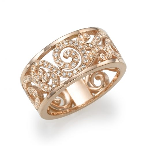 טבעת זהב אדום, טבעת יהלומים, טבעת מיוחדת, טבעת מתנה, טבעת מעוצבת, טבעת פיתולים, טבעת פליגרן, טבעת נישואין, טבעת חצי נישואין, טבעת שורה, טבעת שורות