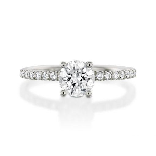 טבעת סיגי זהב לבן